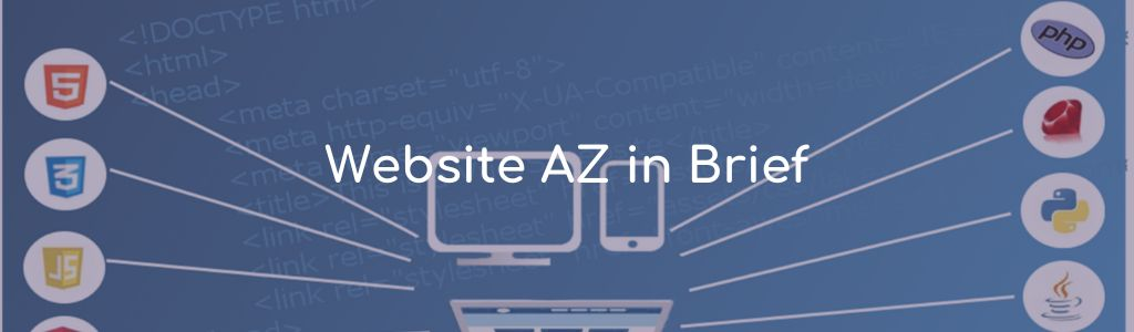 Homepage A-Z in brief